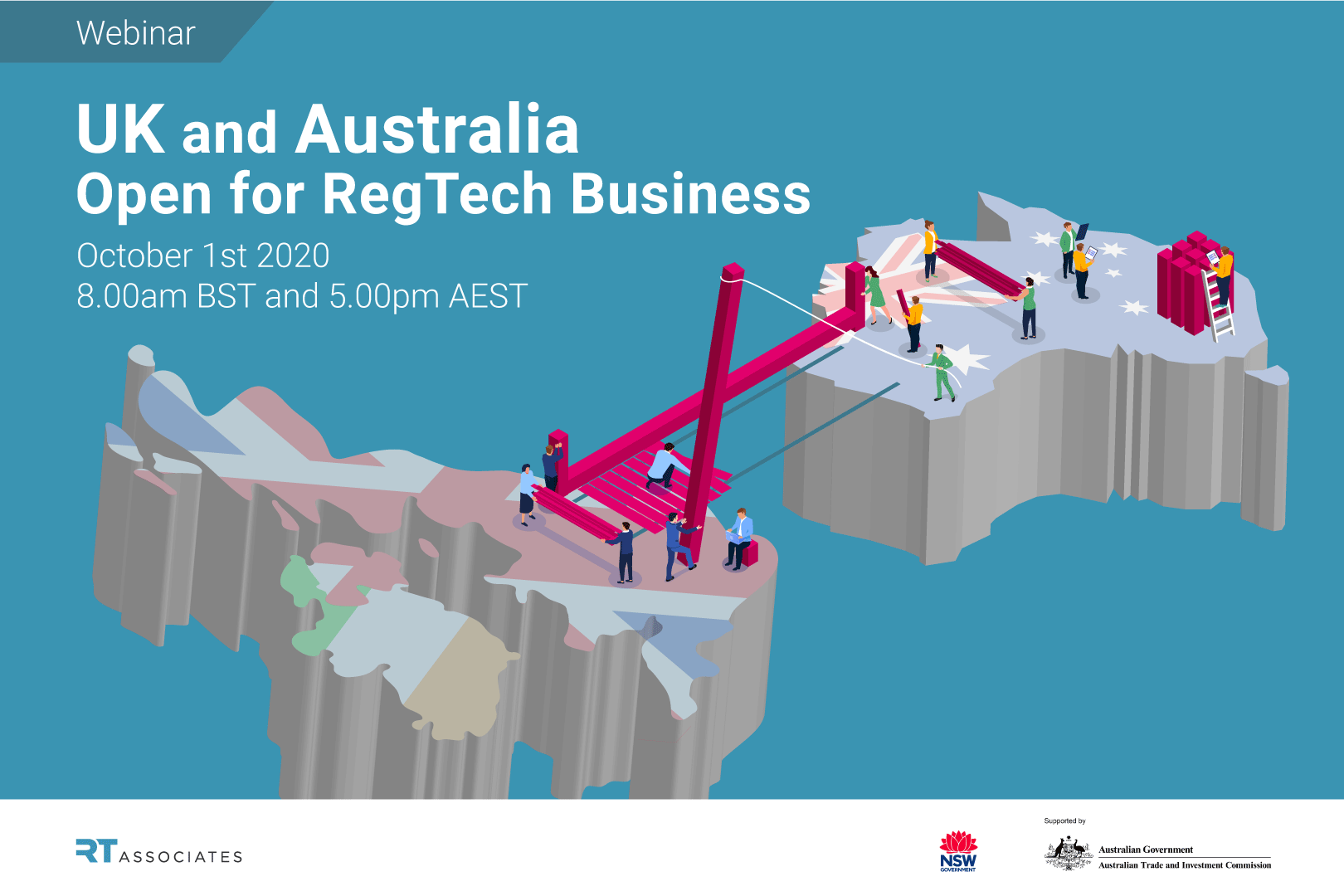 UK and Australia - Open for RegTech Business webinar banner